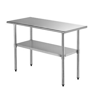 Suncoo Commercial Stainless Steel Work Food Prep Table Kitchen 24 X 48