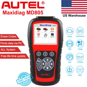 Autel Maxidiag Md805 Autel Scan Tool All System Engine Transmission Better Md808