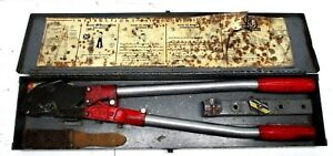 Thomas Betts T b Tbm5 Ratcheting Crimper Crimping Electrician Tool Case Dies