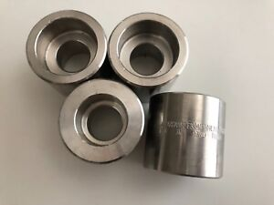 4x High Pressure 304l Ss 1 X 3 4 Reducing Reducer Coupling Stainless 3000 New