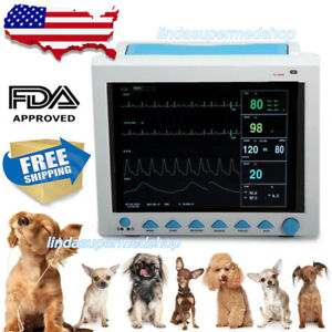 Vet Veterinary Icu Vital Signs Patient Monitor 6parameters 12 1 color Ce Fda Us