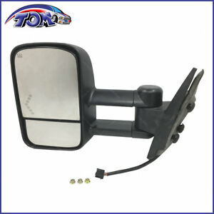 New Towing Power Heated Signal Side View Mirror Driver Left Lh For Chevy Truck