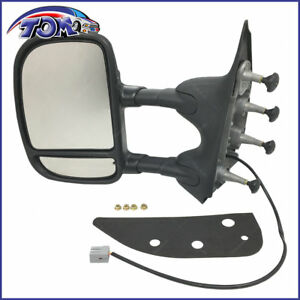 New Towing Power Mirror Dual Arm Telescoping Left Lh For 09 13 Ford E350 Van