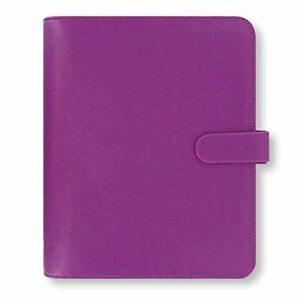 Filofax A5 Size Leather Organizer Saffiano Raspberry