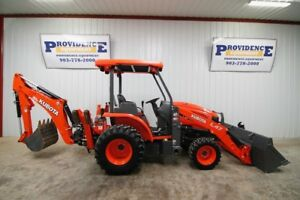 2017 Kubota L47 Backhoe Loader Tractor With Crawling Mode Bt 1000 Bac