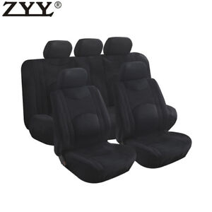 9pcs Universal Airbag Split Bench Headrest Front Rear Seat Covers Fit Ford