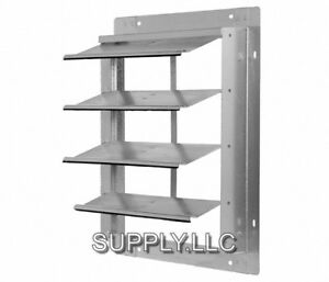 Gravity Shutter For 16 Exhaust Fans Wall Mount Damper Backdraft Aluminum Blades