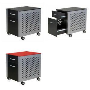 Pitstop Furniture Metal Mobile Automotive Office Storage Filing Cabinet W Wheels