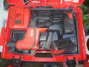Hilti Te 6 a36 Cordless Rotary Hammer Drill 2 Batteries Case With Bits Great