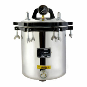 18l Steam Autoclave Sterilizer Hq Tattoo Dental Lab Equipment High Pressure