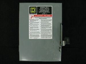 Square D Du322 Safety Switch Disconnect 60a 240vac