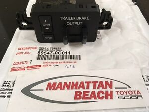 2016 2017 Tundra Instrument Panel Trailer Brake Controller Genuine Toyota