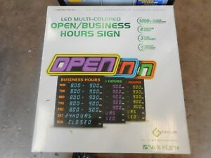 Greenlight Spectrum Led Multi colored Open buisiness Hours Sign gli 1057