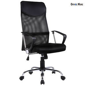 High Back Executive Mesh Office Chair Swivel Armrest Ergonomic Computer Desk