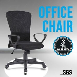 Executive Mesh Chair Swivel Mid back Office Chair Ergonomic Computer Desk Black