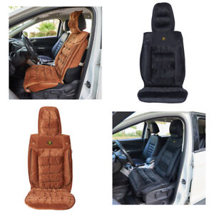 Universal Car Seat Front Faux Fleece Plush Cushion Soft Encore Fabric Cover Us