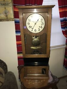 Antique Cincinatti Time Recorder with Key Clock Works