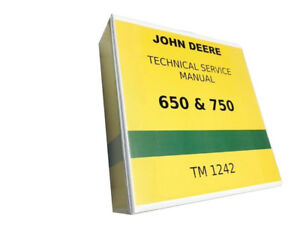 750 John Deere Technical Service Shop Repair Manual 800 Pages