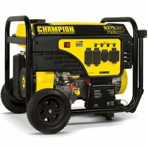 Champion 100538 7500 Watt Electric Start Portable Generator carb