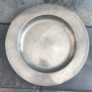 Circa 18th Century Hallmarked Pewter Charger
