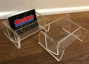 Clear Acrylic Business Card Holder pack Of 2