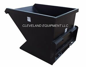 2 Cubic Yard Skid Steer Loader Dumping Hopper Trash Dumpster Attachment Bobcat