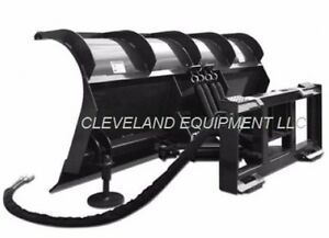 New 96 Roll Top Snow Plow Attachment Skid steer Loader Hydraulic Angle Blade 8