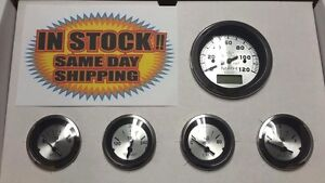 Veethree Sterling 5 Gauge Set Gps Speedo 70774 Street Hot Rod Boat Universal