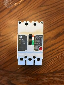 General Electric Ge Teyd3060b Circuit Breaker 3 Pole 60a 480 277v