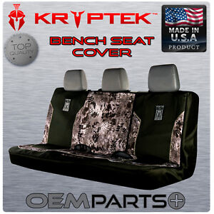New Kryptek Patriort Warrior Full Size Rear Bench Seat Cover Raid Camo Truck Suv