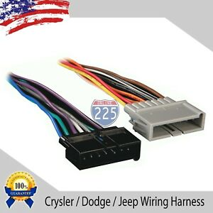 Car Stereo Wiring Harness For Aftermarket Radio Chrysler Dodge Jeep 1984 2005