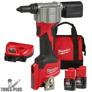Milwaukee 2550 22 M12 Pop Rivet Tool 1 5ah Kit New