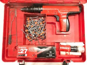 Hilti Dx 350 Piston Drive Powder Actuated Fastening Nail Gun Case And Extras