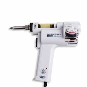 Gj S 998p 220v 100w Electric Vacuum Double pump Solder Sucker Desoldering Iron