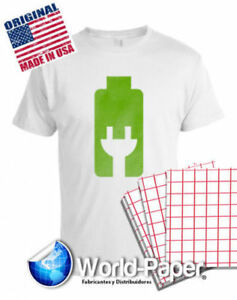 Heat Transfer Paper Red Grid Iron On Light T Shirt Inkjet Paper 100 Pk 8 5 x11