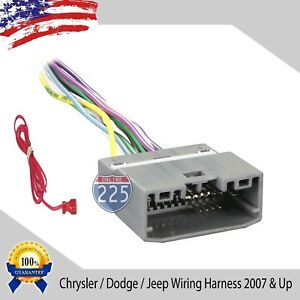 Car Stereo Cd Player Wiring Harness Factory Radio Chrysler Dodge Jeep 2007