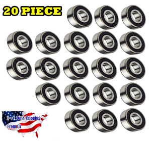 6204 2rs Ball Bearing Dual Sided Rubber Sealed Deep Groove 20pcs