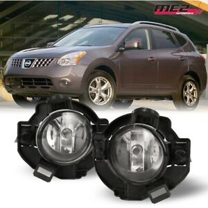 For 2008 2010 Nissan Rogue Winjet Oe Factory Fit Fog Light Bumper Kit Clear Lens