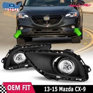 For 2013 2015 Mazda Cx 9 Winjet Oe Factory Fit Fog Light Bumper Kit Clear Lens