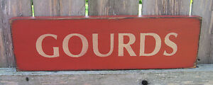 Primitive Country Fall Gourds 12 Sign