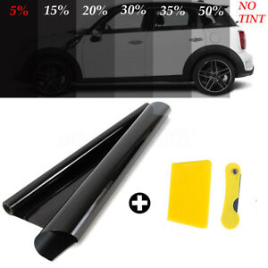 50cm X 6m Black Glass Window Tint Shade Film Vlt 5 Auto Car House Roll New