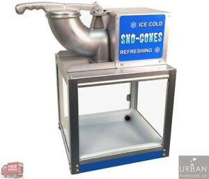 Commercial Ice Snow Cone Machine Crusher Shaved Electric Heavy Duty Equipment