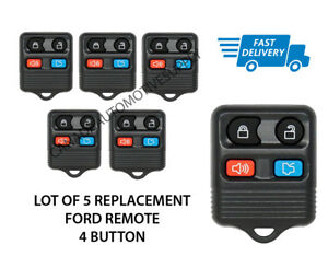 Lot Of 5 New Replacement Keyless Entry Remote Key Fob Fits Ford Mercury Lincoln
