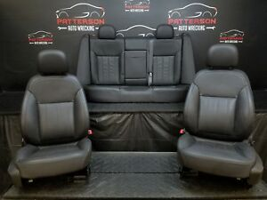 2011 Buick Regal Front Rear Black Leather Power Bucket Seats Trim Code 01a