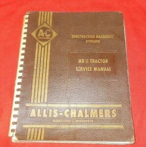 Allis Chalmers Hd 11 Tractor Service Repair Shop Manual