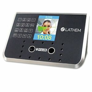 Lathem Time Face Recognition Time Clock System 500 Employees Gray 7 1 4 X