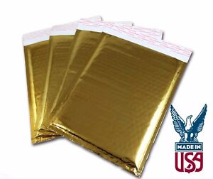 Gold Bubble Mailers Size 0 Metallic Foil Dvd Size 6 5x9
