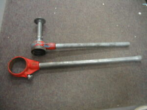 Ridgid Ratching Handles 254 Spiral Pipe Reamer Handle And 3 5 Pipe Die Handle