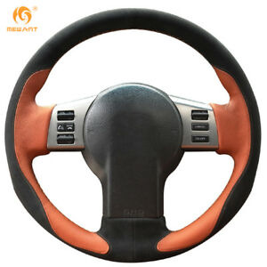 Leather Suede Steering Wheel Cover For Nissan 350z Infiniti Fx Fx35 Fx45 In04