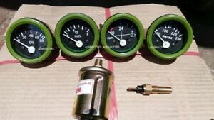 24v Electrical Gauges 52mm Oil Pressure Temp Fuel Volt With Senders